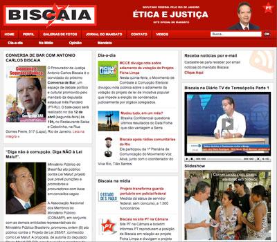 site Antonio Carlos Biscaia