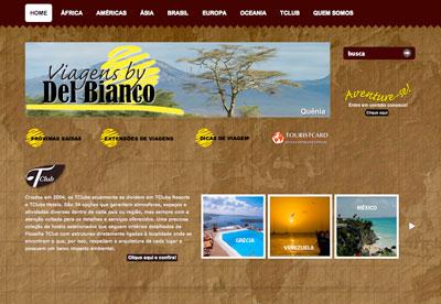 site Viagens by De Bianco