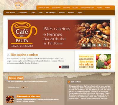 site Café em Paula