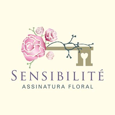 logo sensibilité assinatura floral